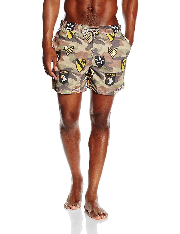 MC2 Saint Barth Herren Badeshorts Gustavia - Man Printed Elastic Belt Short