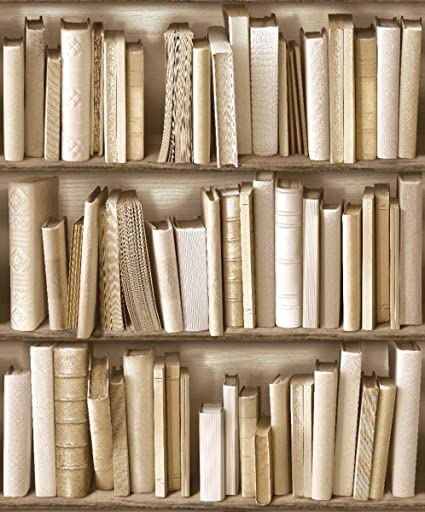 Amazon Com J430 27 Books Cream Bookshelf Photo Wallpaper Home