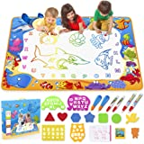 Water Doodle Mat - Kids Painting Writing Doodle Toy Mat - Color Doodle Drawing Mat Bring Magic Pens Educational Toys for Age
