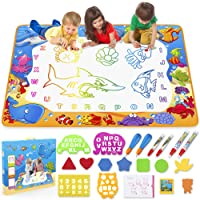 Water Doodle Mat - Kids Painting Writing Doodle Toy Mat - Color Doodle Drawing Mat Bring Magic Pens Educational Toys for Age 2 3 4 5 6 7 Year Old Girls Boys Age Toddler Gift