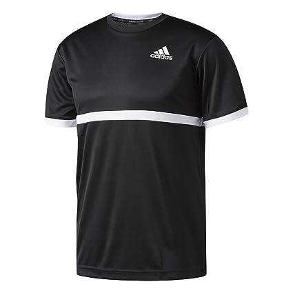 Adidas Court tee Camiseta de Tenis, Hombre, Negro/Blanco, XS
