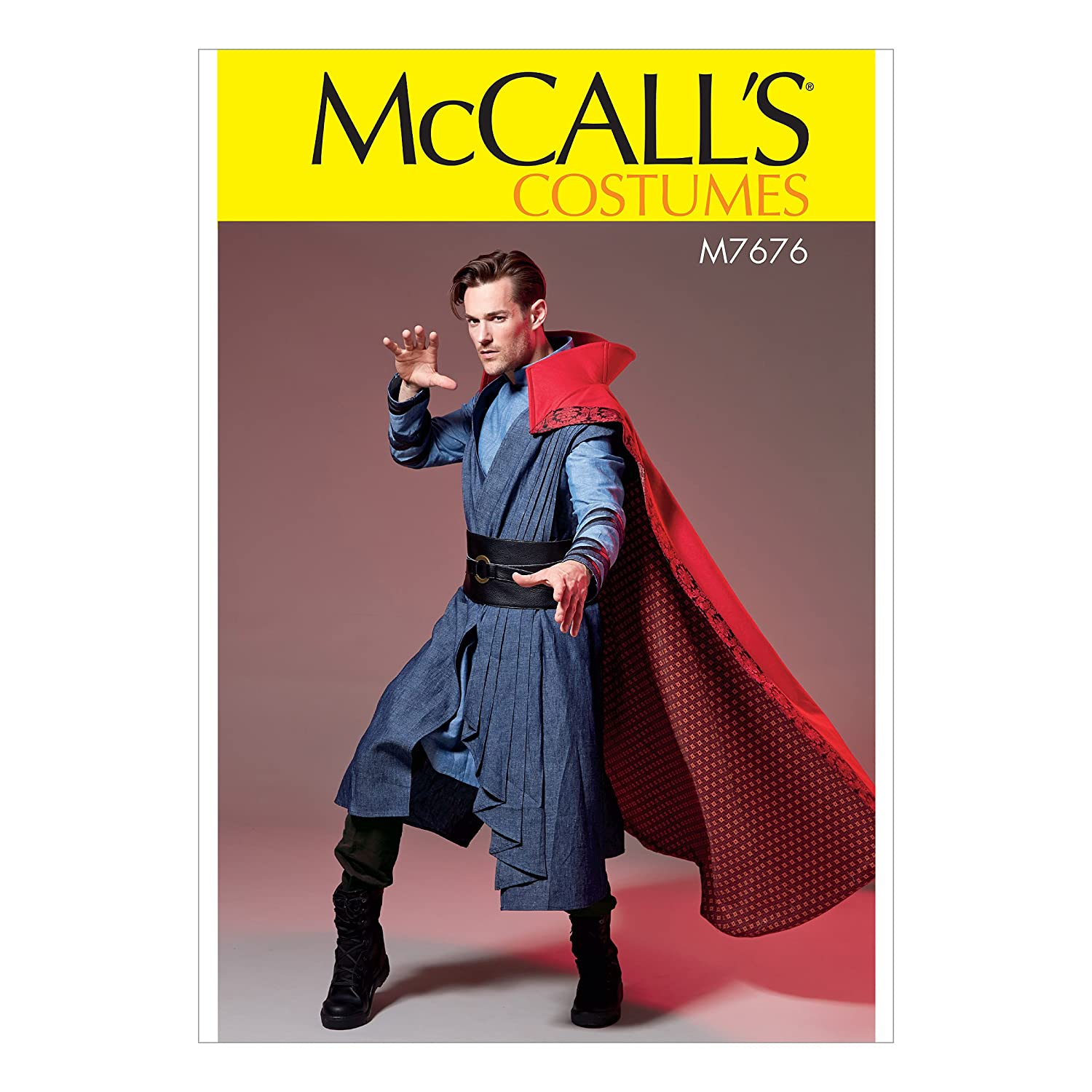 McCalls Patterns M7676 Mens Costume With Cloak and Belt SEWING PATTERN Vest Size S-XXL Tunic 7676