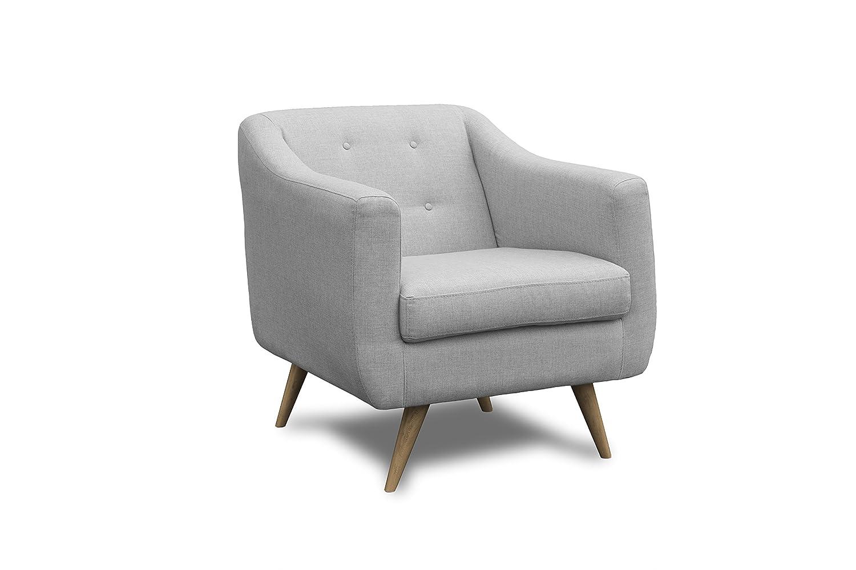 Slaap Sofá & Chaise - Butaca estilo nórdico, gris claro ...