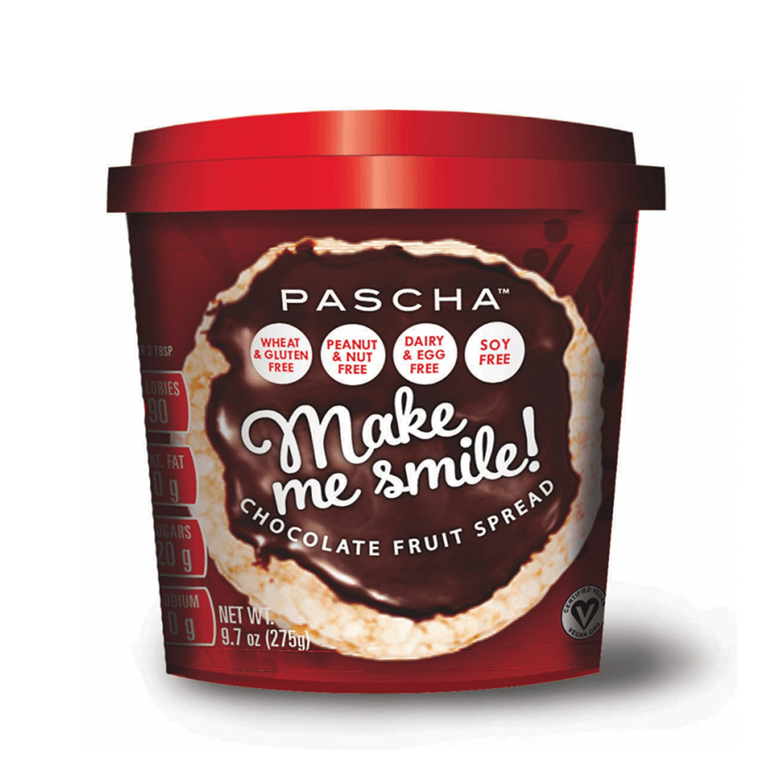 Pascha Make Me Smile Chocolate Fruit Spread, 9.7 Ounce (Pack of 6) by Pascha (Image #1)