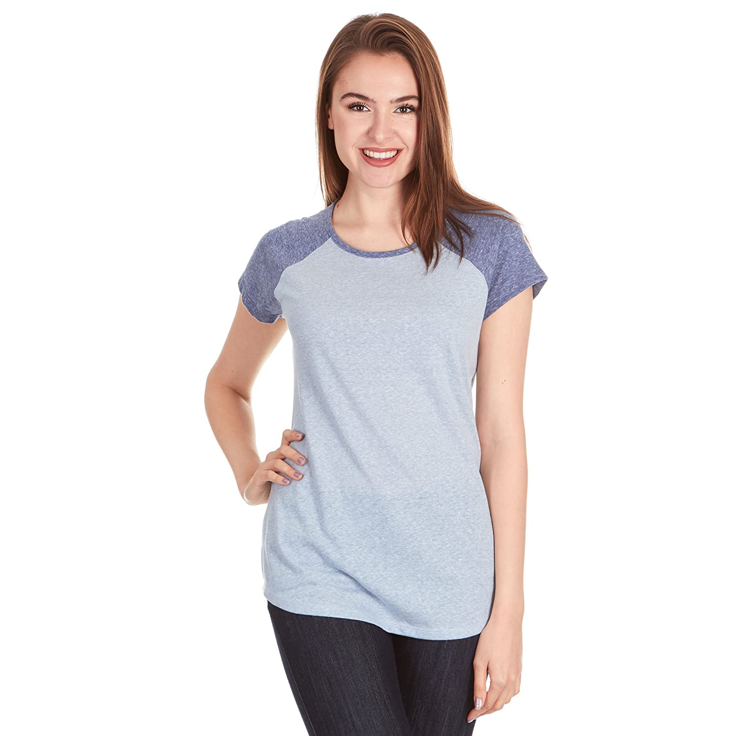 e903d079f45fe Tee To Match Your Style: It's time to take your overall statement up a  notch with this super stylish Frost Jersey Triblend Women Cap Sleeve Raglan  Baseball ...