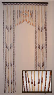 Amazon.com: Hudson Street Wooden Beaded Door Curtain, Bamboo ...