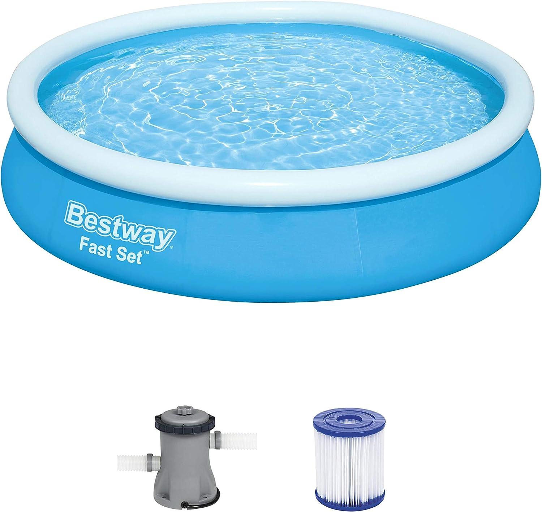 Bestway Fast Set Juego de Piscina con Bomba de Filtro, Azul, 366 x 76 cm: Amazon.es: Juguetes y juegos