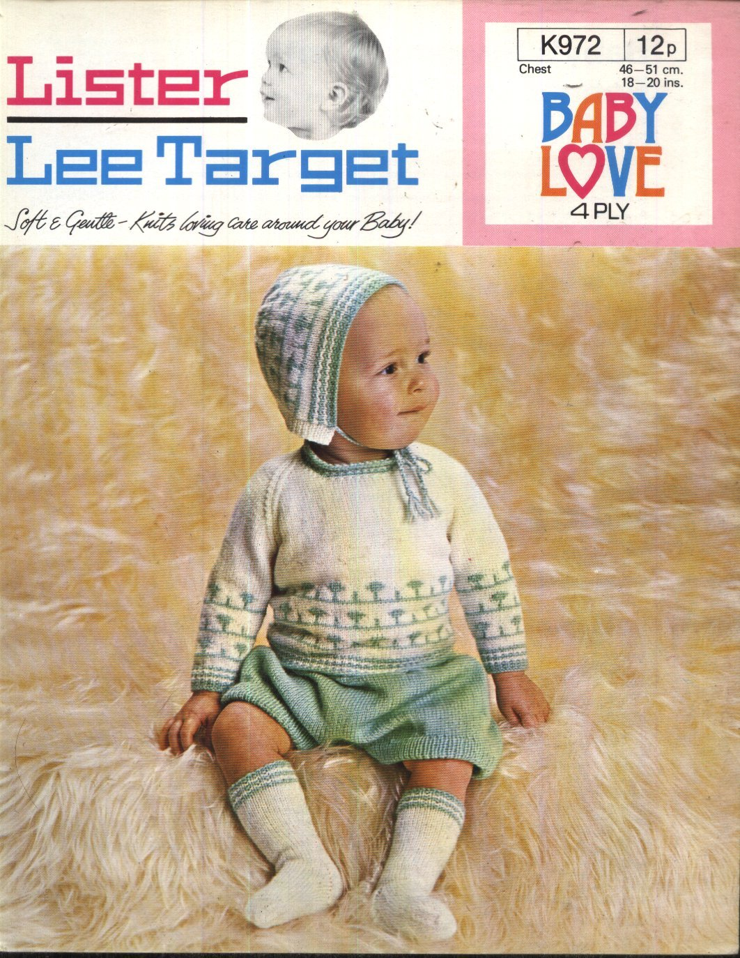 Lister-Lee Target Knitting Pattern 972   Baby Sweater 14faebd793c
