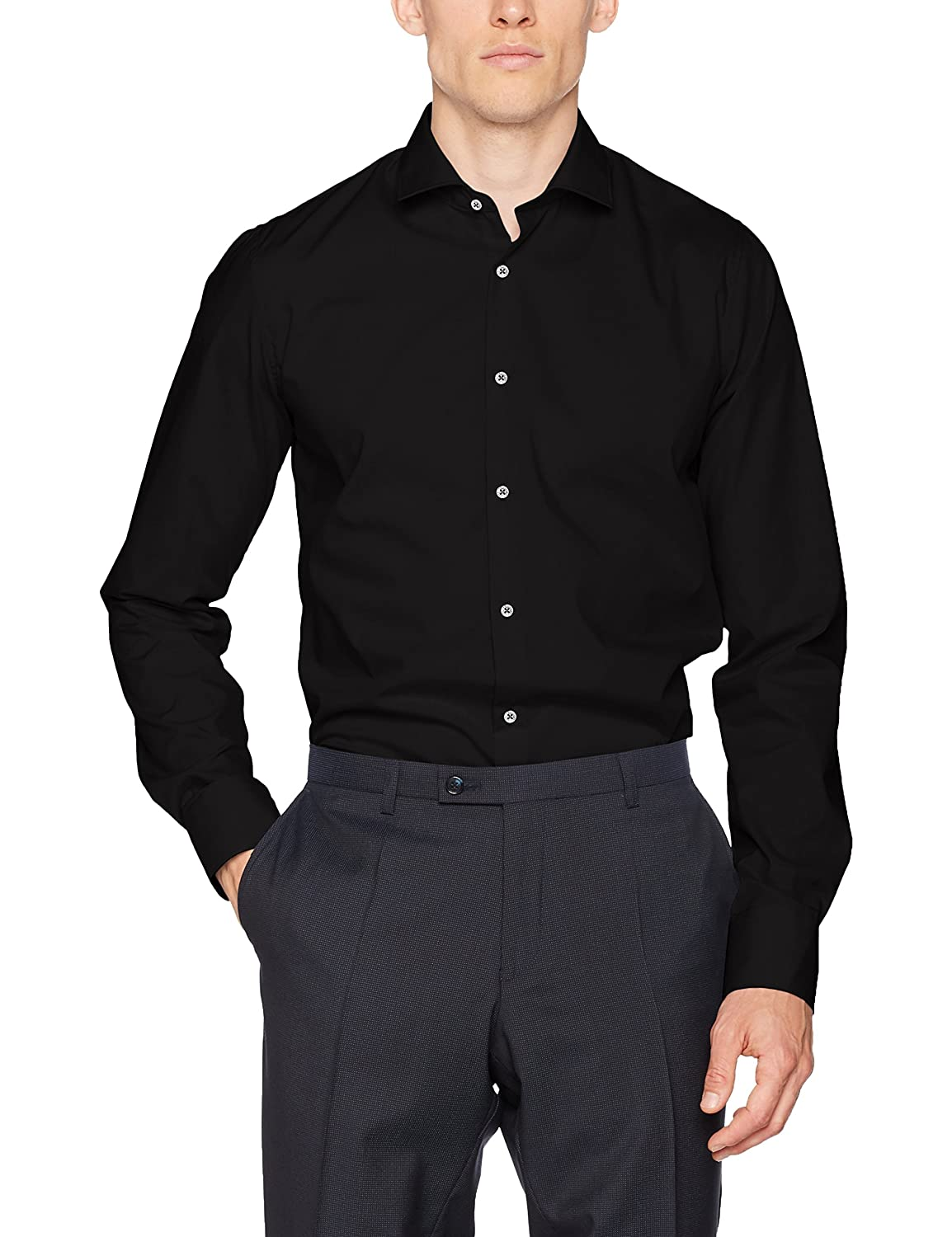 Club of Gents CG Slim-Chris, Camisa de Oficina para Hombre