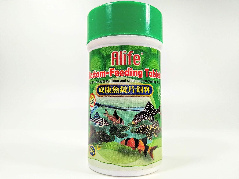 Hai Feng Alife Bottom Feeding Tablets 50g 9% Spirulina Ideal for Corydoras, pleco and Other Bottom-Dwelling Fish Food