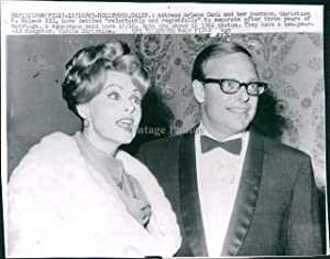 1963 WireVintage Photo Actress Arlene Dahl Christina Holmes Hollywood Ca Beauty 7X7