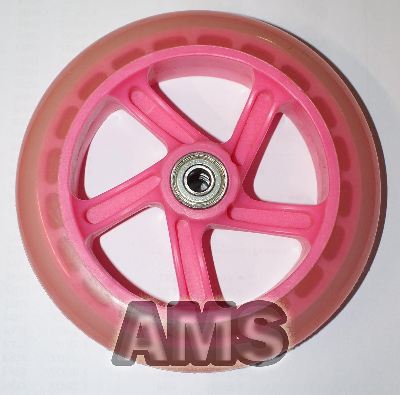 REPLACEMENT Pink flashing, 145mm SPARE WHEEL FOR FLICKER3 DRIFTER SWING TRI X SPEEDER SCOOTER 145mm DIAMETER FLASH WHEEL