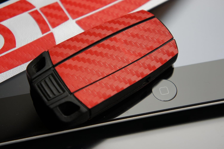 3D Carbon Lila Chrome Folie f/ür Ihren 3 Tastenschl/üssel von Wizuals/©