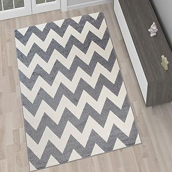 tapis de salon moderne collection marocaine couleur gris blanc motif gomtrique zigzag meilleure qualit diffrentes dimensions s xxxl 120 x 170 cm - Tapis Gris Et Blanc