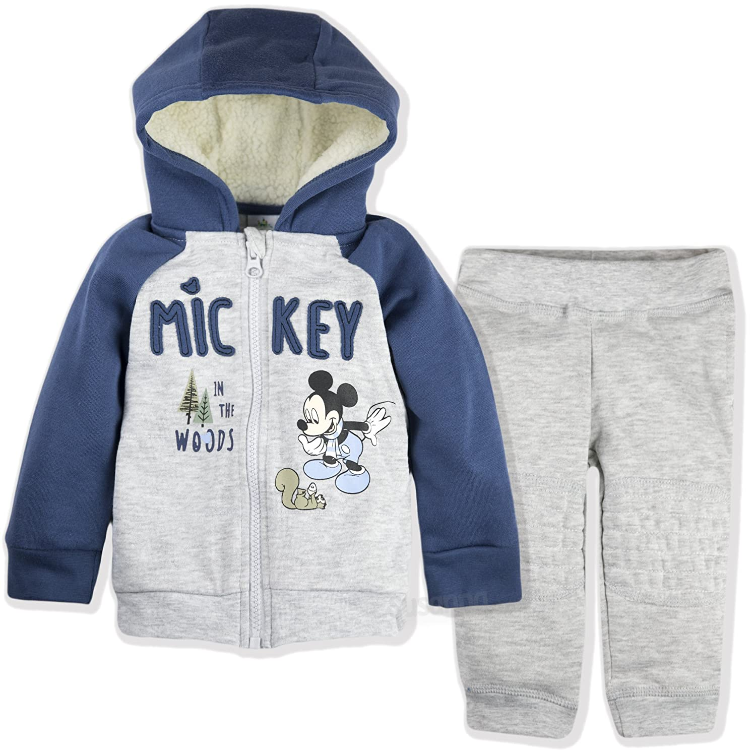 Disney Mickey Mouse Baby Boys Clothing Outfit Tracksuit Set Joggers Hoodie Warm 9-36 Months - New 2018