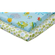 Little Bedding by NoJo Ocean Dreams - 2 Count Crib Sheet Set