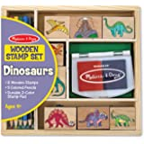 Melissa & Doug 11633 - Set di Timbri Dinosauri