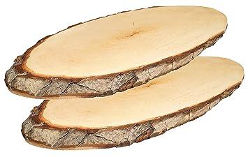Kaltner Präsente Planche à Découper Rondin De Bois Plaque De Porte - Plaque de porte en bois