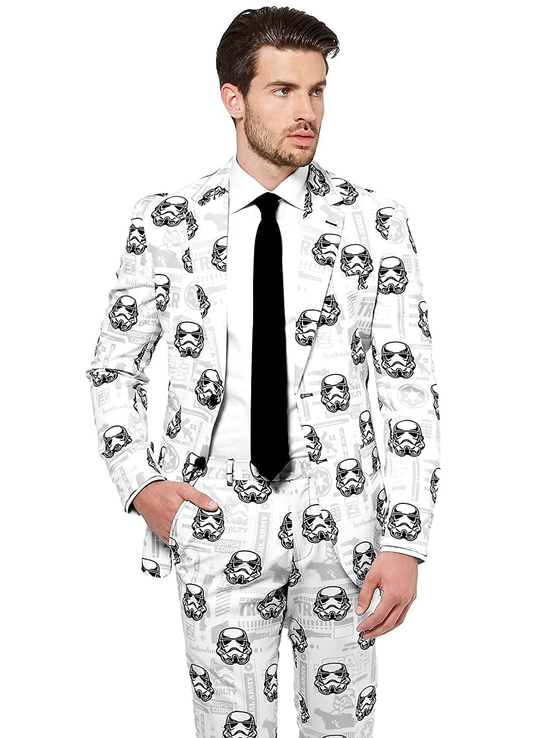 Opposuits STAR WARSTM Suit - Official StormtrooperTM Costume Comes With Pants, Jacket and Tie, StormtrooperTM, 48 B01LYYPU5M Kostüme für Erwachsene Reparieren  | Ich kann es nicht ablegen
