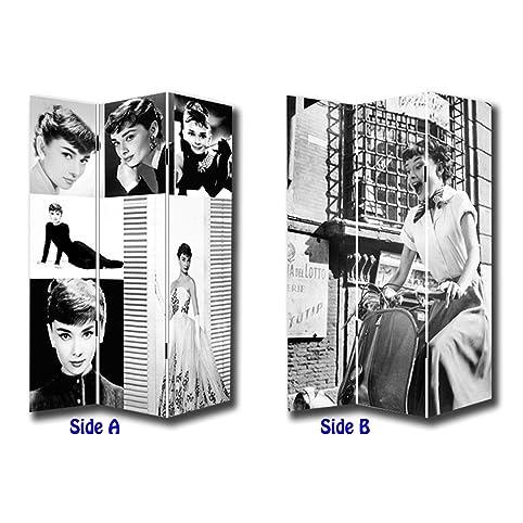 Amazoncom 6FT Tall 3 Panel 2 Fold Classic Audrey Hepburn Room