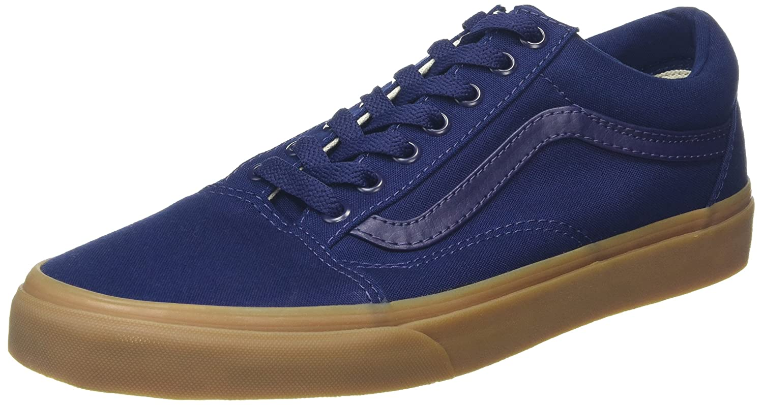 Vans Unisex Old Skool Classic Skate Shoes B01CRB6R6K 9.5 M US Women / 8 M US Men|Eclipse/Light Gum