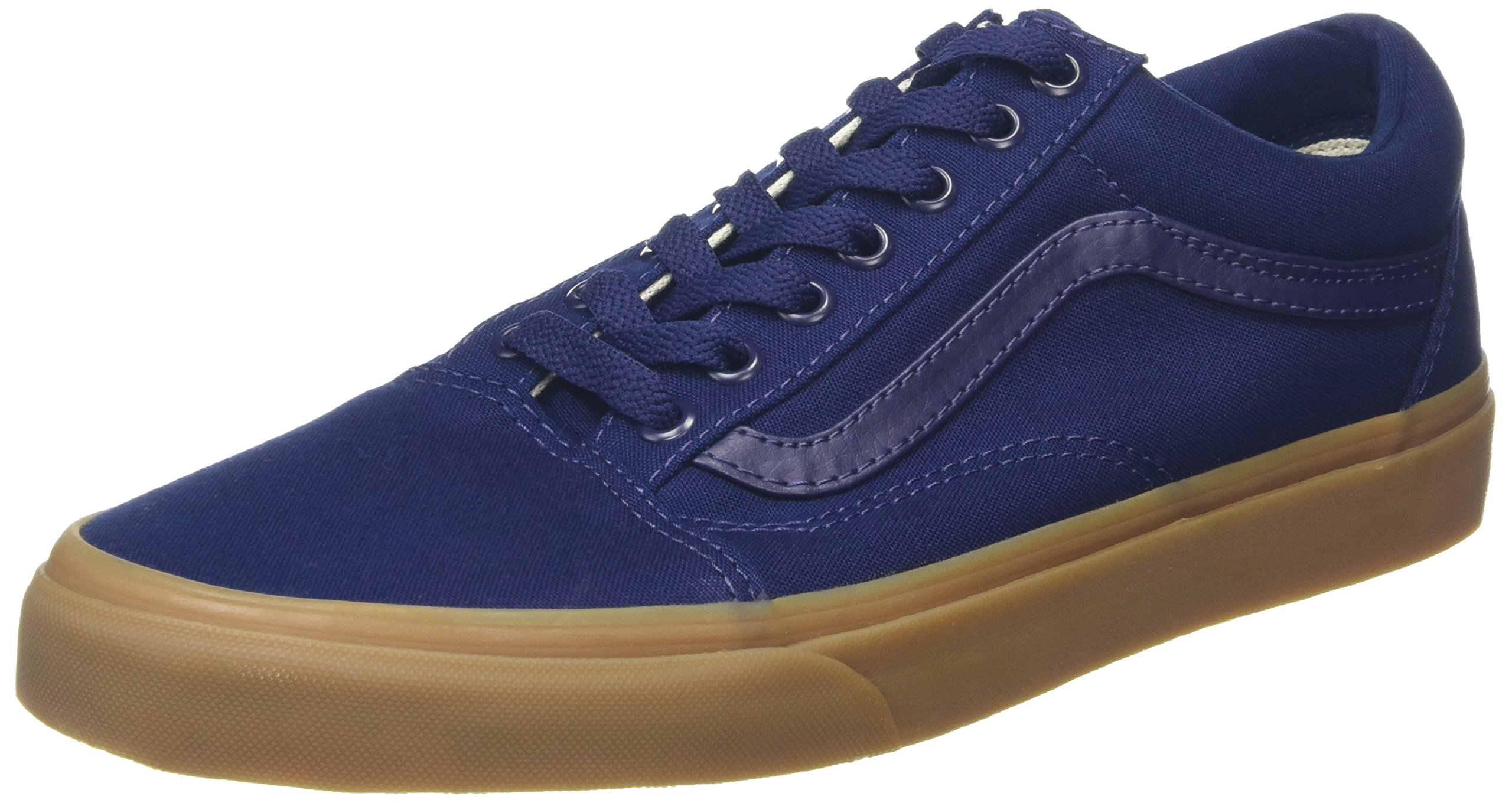 vans unisex adults old skool low top sneakers blue canvas. Black Bedroom Furniture Sets. Home Design Ideas
