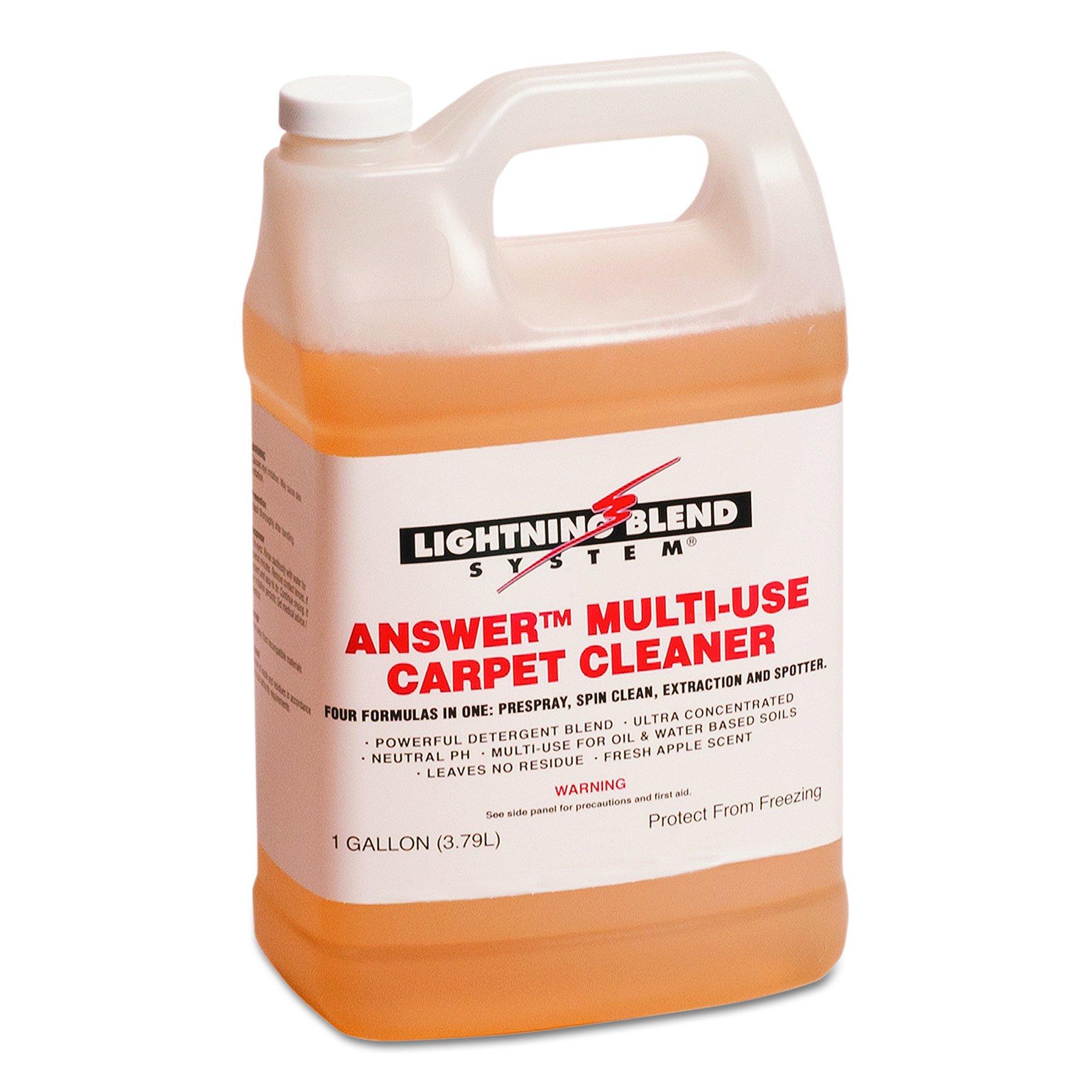Answer F380422 1 Gallon LB II 21 Multi-Use Carpet Cleaner Bottle