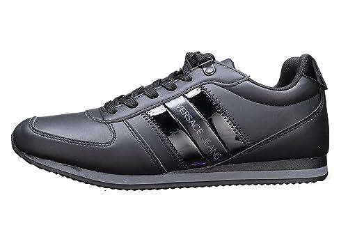 Versace Jeans Side Stripe Hombre Zapatillas Negro: Amazon.es: Zapatos y complementos