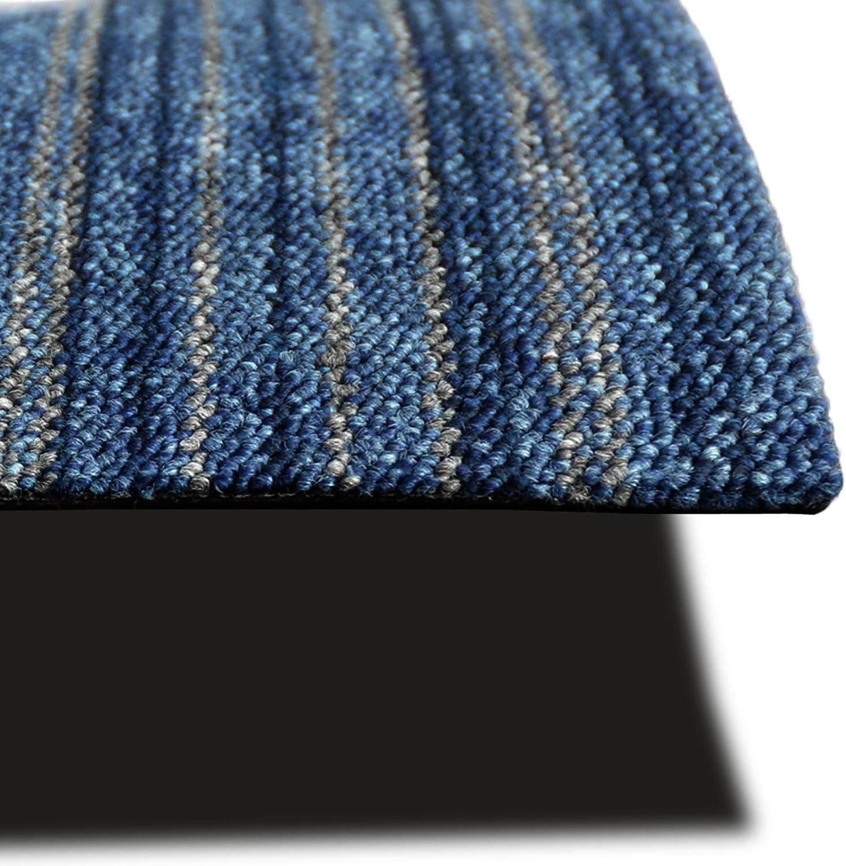 Tappeto Componibile su Misura 4 pezzi da 50x50 cm Moquette per Pavimento al Metro - Antracite 1 m/² Mattonelle in Tessuto per Interni in 14 Colori