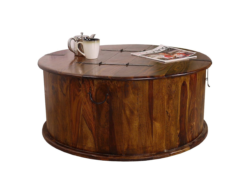 Maharajah indian rosewood round trunk coffee table amazon maharajah indian rosewood round trunk coffee table amazon kitchen home geotapseo Choice Image