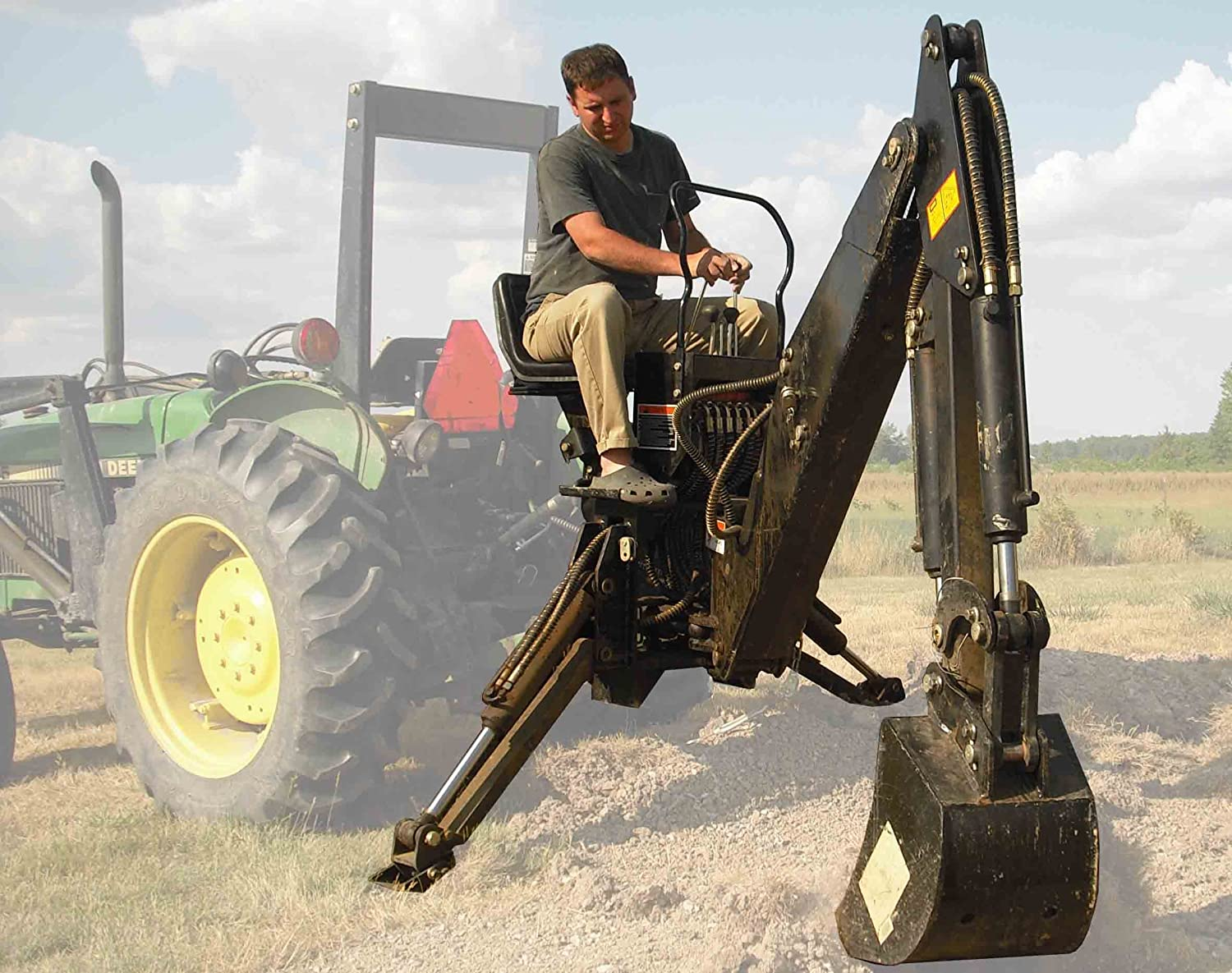 Amazon com : 6' ft 3 Point Backhoe with Thumb Excavator Tractor