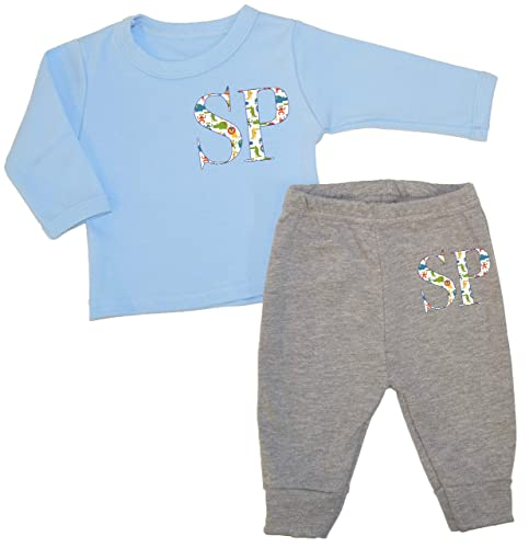 ad459d5fb60f Personalised Jungle Initial Baby Luxury Lounge Set Baby Wear ...