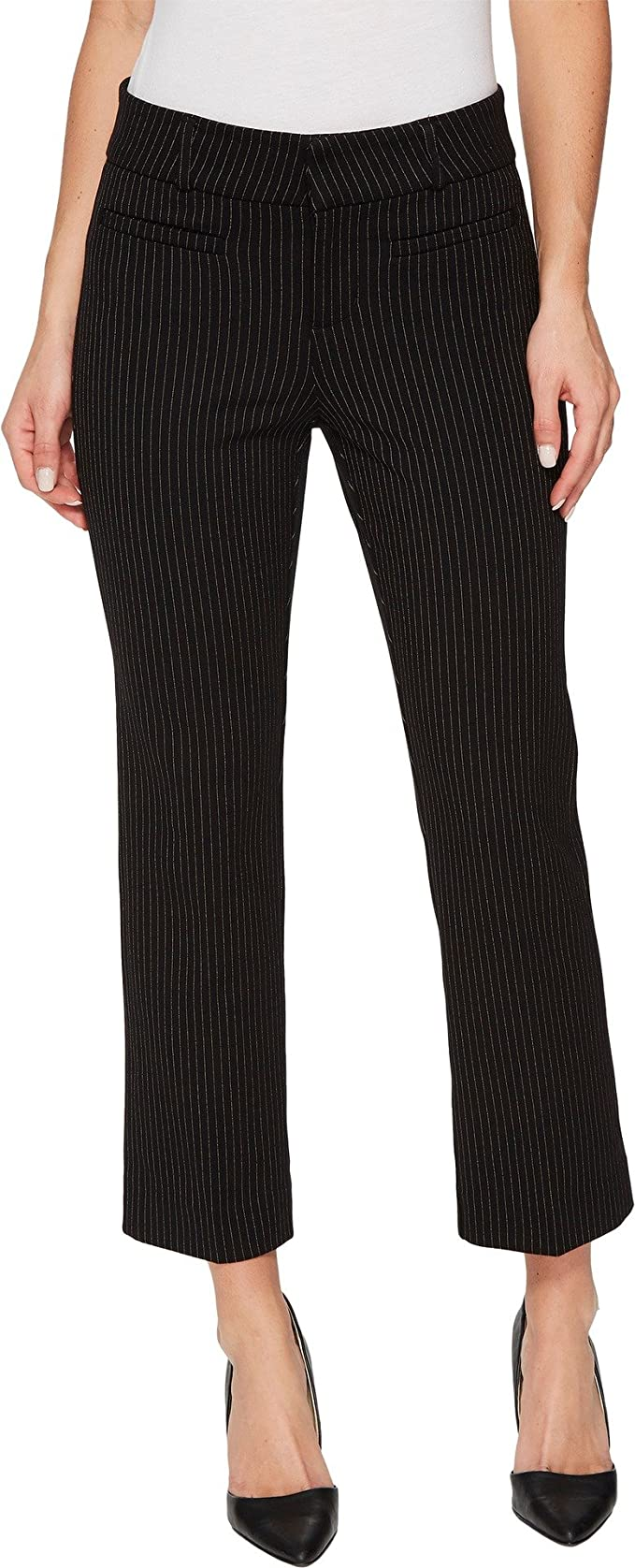 1adf2836add40 Liverpool Womens Vera Crop Flare Trousers with Welt Pockets in Mini Check  Ponte Knit
