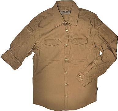 Hazard 4 - Camisa de Hombre Colonial Safari elástica, Hombre, APR-COLO-BLK-2XL, marrón, Medium: Amazon.es: Deportes y aire libre