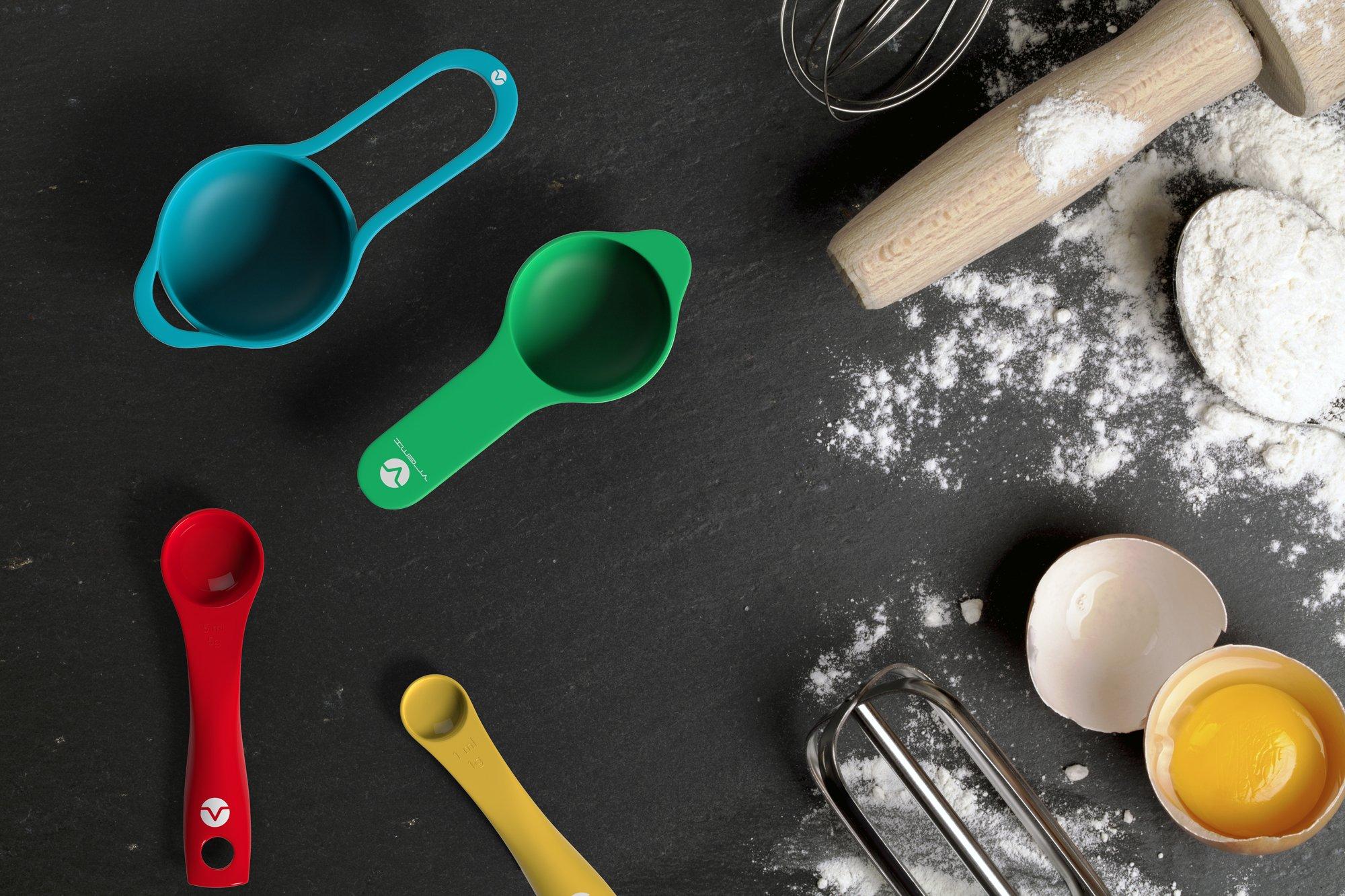 Vremi 13 Piece Mixing Set Colorful Kitchen Colander Mesh