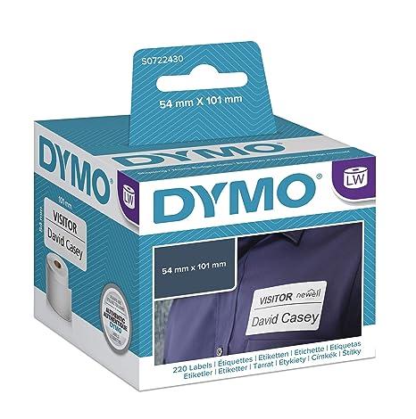 Dymo LabelWriter, etiquetas grandes de tarjetas de identificación/envío, 101 x 54 mm