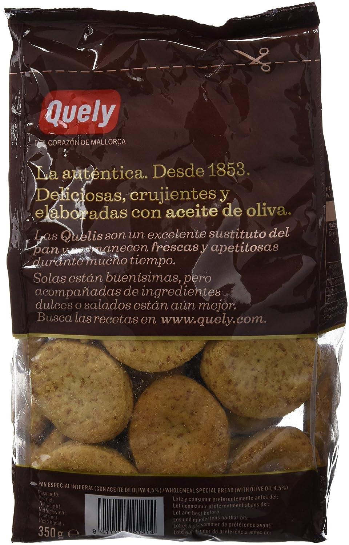 Quely, Crackers salado de agua (Rustic Integral) - 7 de 350 gr. (Total 2450 gr.): Amazon.es: Alimentación y bebidas