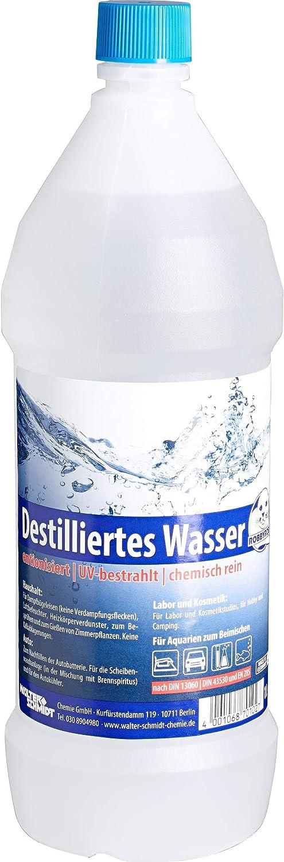 Chemie Wocklum - Accesorio para batería de Motocicleta, Agua destilada 1000 ml, Unisex, Multiusos, para Todo el año, Transparente: Amazon.es: Coche y moto
