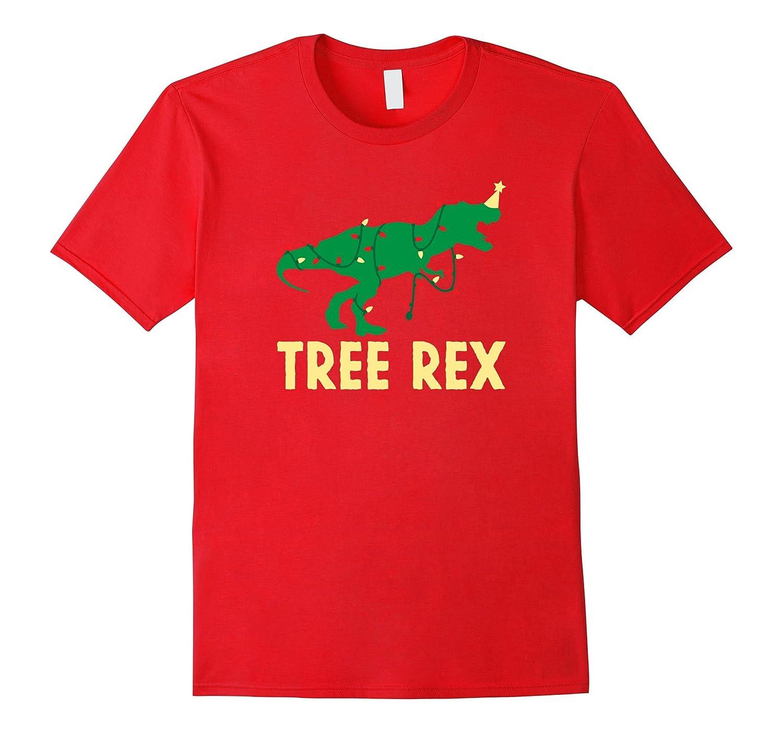 Christmas Dinosaur Shirt, Funny Tree Rex Lights Holiday Gift-ANZ