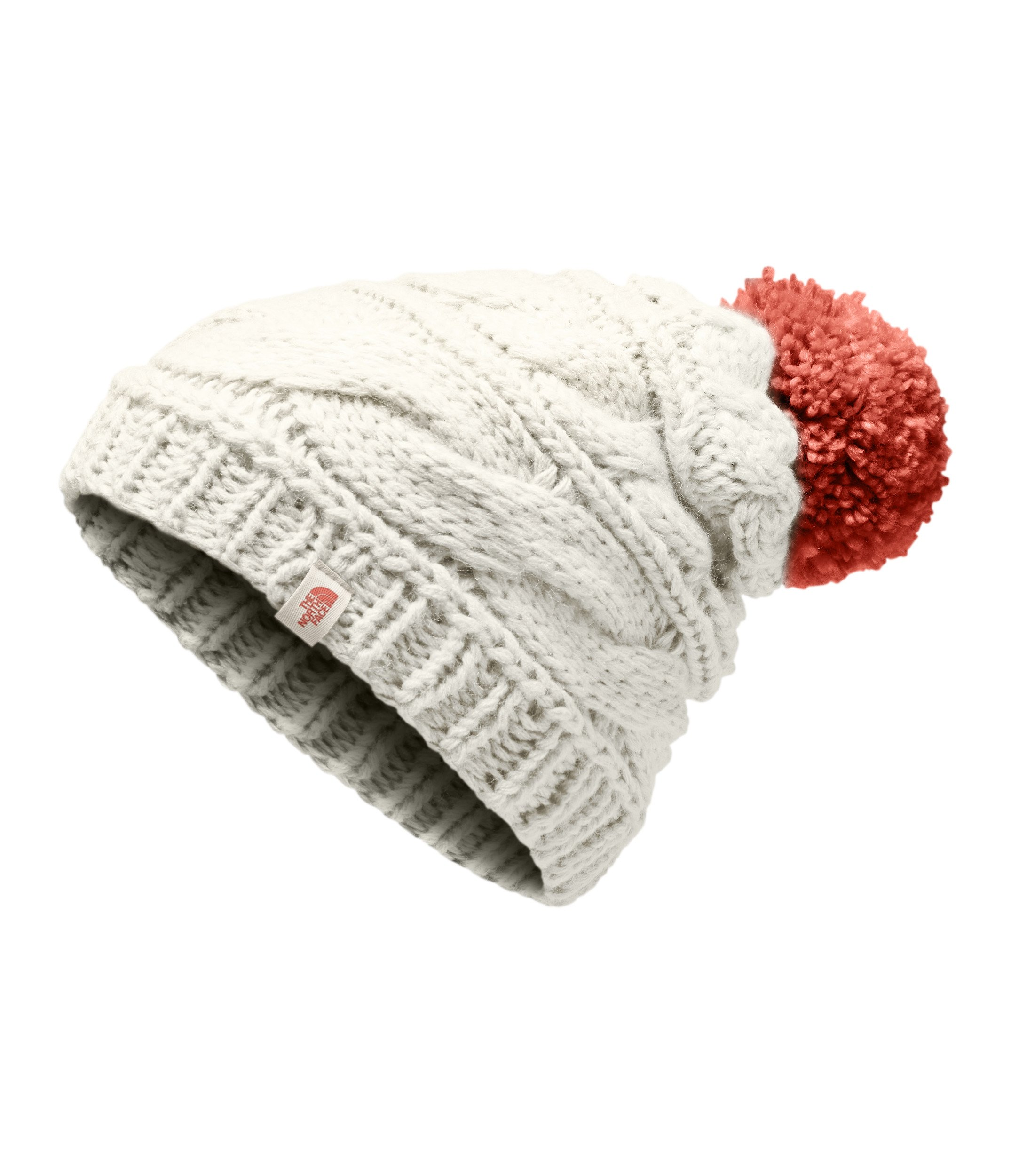 The North Face Women's Triple Cable Beanie - Wild Oat Heather & Faded Rose - OS by The North Face