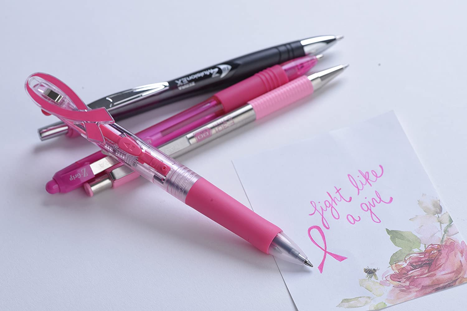 Support Breast Cancer Awareness With Pink Office Supplies - Zebra Pens