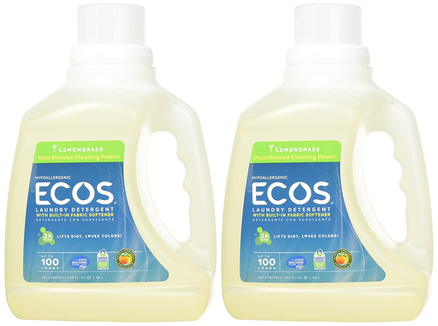 Amazon.com: Earth Friendly Productos ECOS 2 x líquido ...