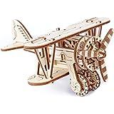 Wooden. City wr304Jeu de construction en bois–Biplan 3D Avion Jeu de construction en bois, Bricolage et construire sans colle, technique de 14ans
