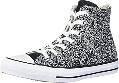 Converse Chuck Taylor All Star Glitter Hi NoirArgentBlanc Synthétique