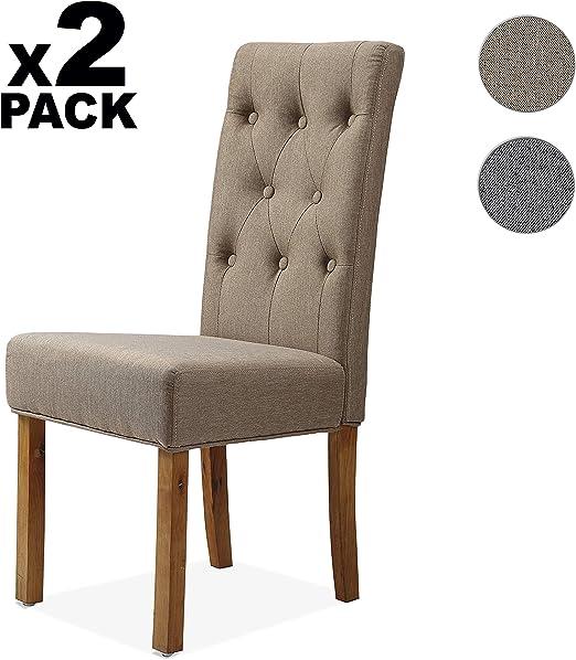 Adec - Capitone, Pack de 2 sillas de Comedor, Cocina, salón ...