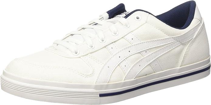 ASICS Aaron Sneakers Damen Herren Unisex Weiß/Blau Größe 36-49