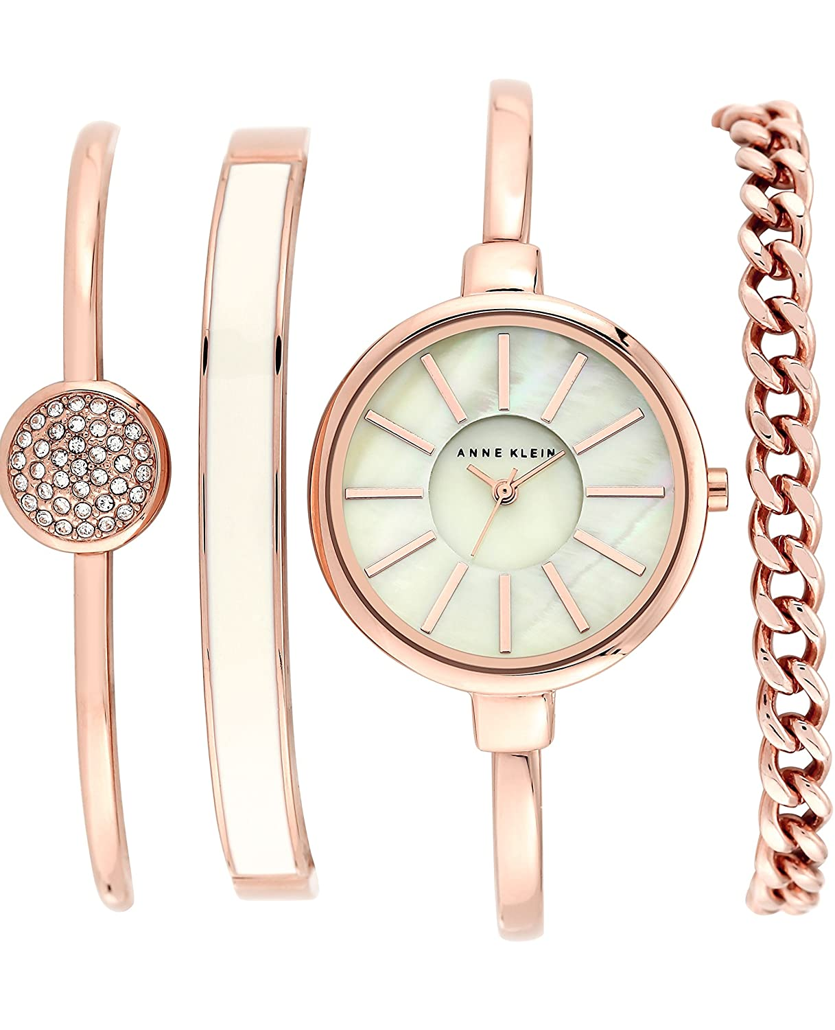 anne klein women 39 s ak 1470 bangle watch and bracelet set ebay