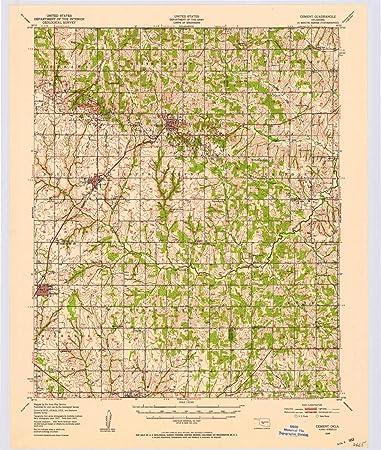 Cement Oklahoma Map.Amazon Com Yellowmaps Cement Ok Topo Map 1 62500 Scale 15 X 15