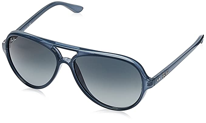 e77a1aaf08 Ray-Ban Men s Cats 5000 Aviator Sunglasses TRASPARENT LIGHT BLUE 59 mm