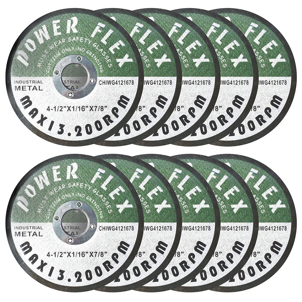 4 1/2'' x 1/16'' x 7/8'' Premium Cut Off Wheels - 10 pack, For Cutting all Ferrous Metals and Stainless Steel